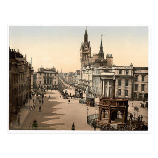 Cartão Postal Vintage Aberdeen - rua da união
