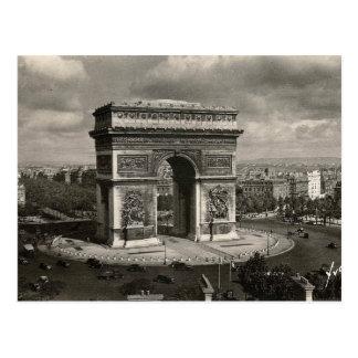 Cartão Postal Vintage Arco do Triunfo 1943 de Paris