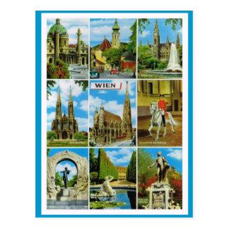 Cartão Postal Vintage Áustria, Wien, Viena, Multiview