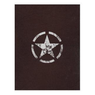 Cartão Postal Vintage branco aliado da estrela dos E.U.