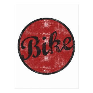 Cartão Postal Vintage da bicicleta