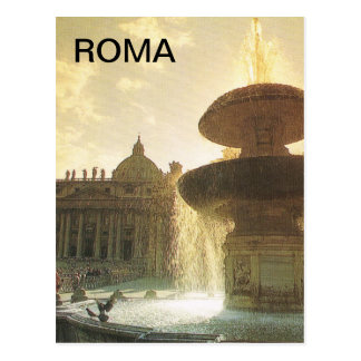 Cartão Postal Vintage Italia, Roma, vaticano, St Peter