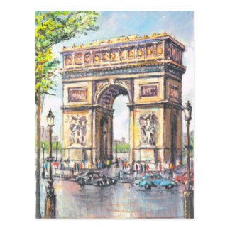 Cartão Postal Vintage Paris, Paris Arco de Triumphe,