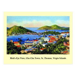 Cartão Postal Vintage St Thomas Virgin Islands