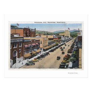 Cartão Postal Vista aérea da avenida de Wenatchee
