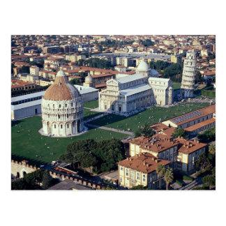 Cartão Postal Vista aérea de Pisa, Italia