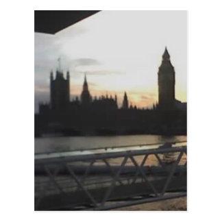 Cartão Postal Vista através de Londres do olho de Londres,