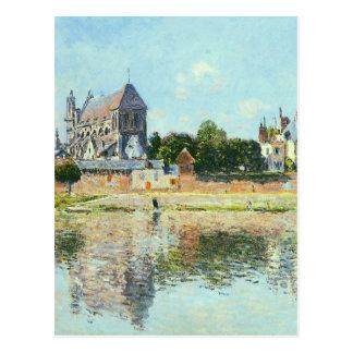 Cartão Postal Vista da igreja em Vernon por Claude Monet
