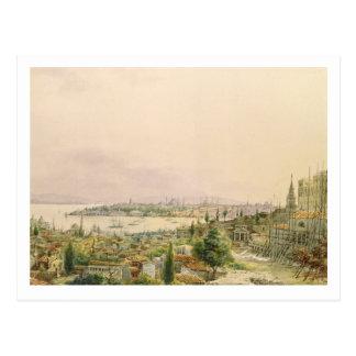 Cartão Postal Vista de Constantinople de Pera