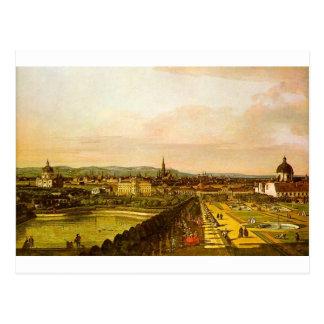 Cartão Postal Vista de Viena do Belvedere