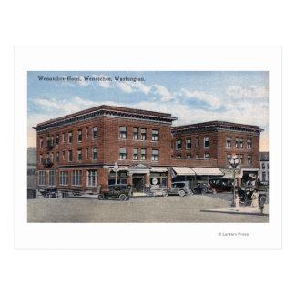 Cartão Postal Vista exterior do hotel de Wenatchee