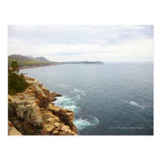 Cartão Postal Vista litoral do parque nacional do Acadia