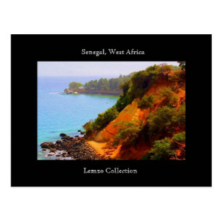 Cartão Postal Vista para o mar de Senegal, África ocidental