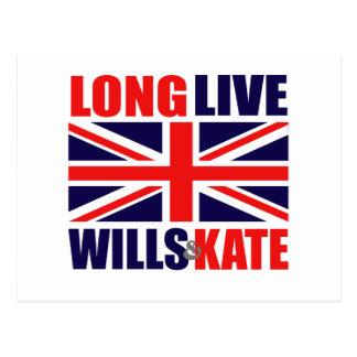 Cartão Postal Vivem por muito tempo as vontades & Kate