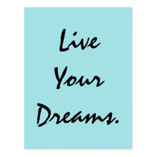 Cartão Postal Vivem seus sonhos