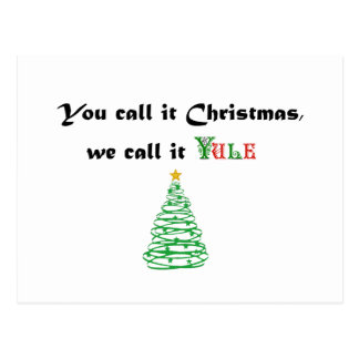 Cartão Postal Você chama-o Natal, nós chama-o Yule
