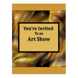 Cartão Postal Você é convidado a uma mostra de arte