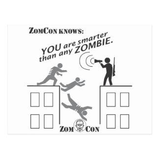Cartão Postal Você é mais esperto do que todo o zombi