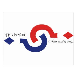 Cartão Postal Você & mim lembrança!