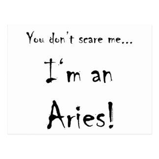 Cartão Postal Você não faz susto mim… Aries