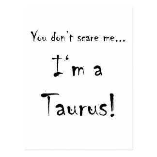 Cartão Postal Você não faz susto mim… Taurus
