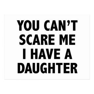 Cartão Postal Você não pode susto mim mim ter uma filha