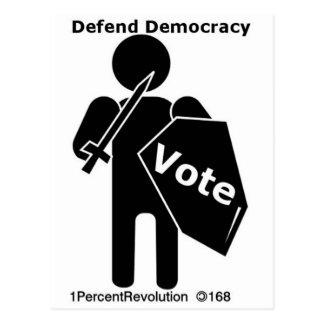 Cartão Postal Voto de 168 suportes