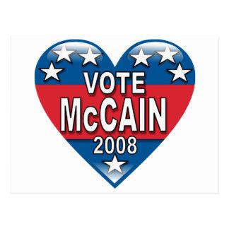 Cartão Postal Voto McCain 2008
