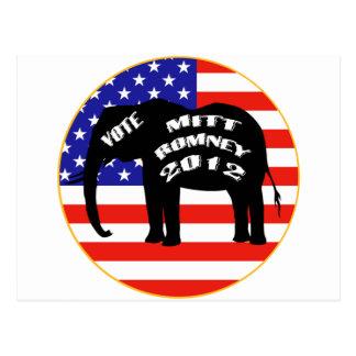 Cartão Postal Voto para Mitt Romney