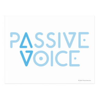 Cartão Postal Voz passiva