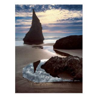 Cartão Postal Wayside Espinho-Dado forma da rocha da cara do