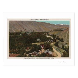 Cartão Postal Wenatchee, o olho de WABird do rancho no vale