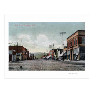 Cartão Postal Wenatchee, WashingtonView da rua principal