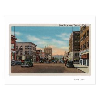 Cartão Postal Wenatchee, WAView da avenida de Wenatchee