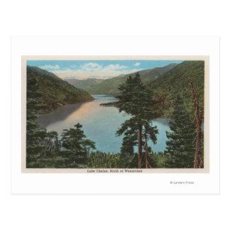 Cartão Postal Wenatchee, WAView do lago Chelan