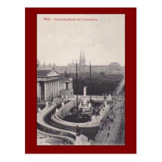 Cartão Postal Wien, mit Franzensring de Reichsratsgebaude