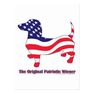 Cartão Postal Wiener/Dachshund patrióticos originais