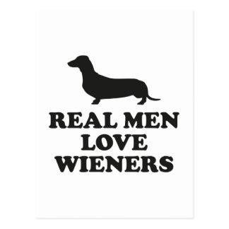 Cartão Postal Wieners reais do amor dos homens