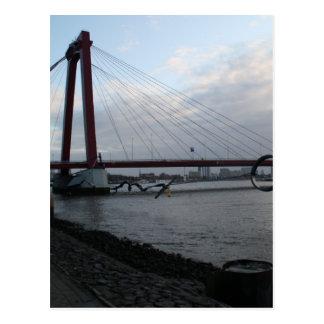 Cartão Postal Willemsbrug, Rotterdam