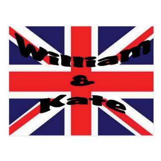 Cartão Postal William e Kate
