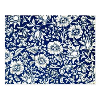 Cartão Postal William Morris - Mallow azul