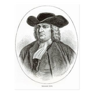 Cartão Postal William Penn gravou pela madeira Whymper de Josiah