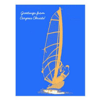 Cartão Postal windsurfer, cumprimentos de Corpus Christi!