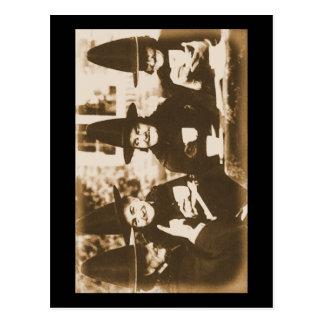 Cartão Postal Witches Tea festa - sepia
