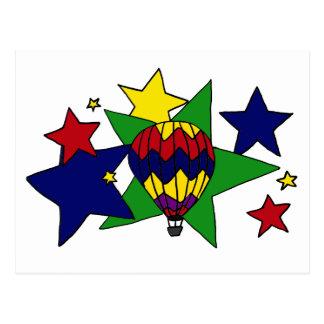 Cartão Postal XX- Ballooning na arte das estrelas