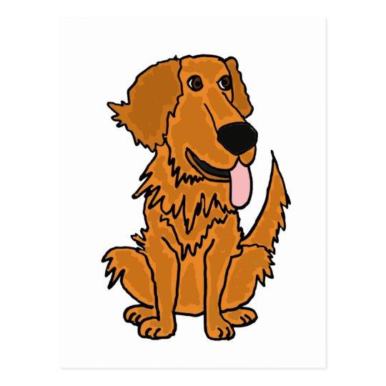 Cartão Postal XX- desenhos animados engraçados do cão do golden