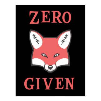 Cartão Postal Zero (Fox) dado