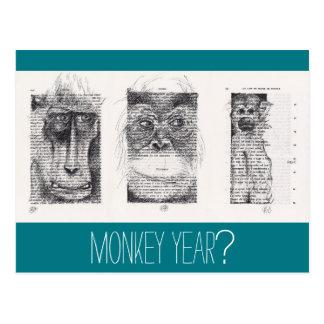 Cartão Postal Zodíaco chinês não convencional P do ano novo de 3
