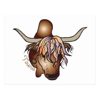 Cartão Postal Zodíaco do Taurus