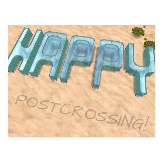 """Cartão """"Postcrossing feliz! """""""